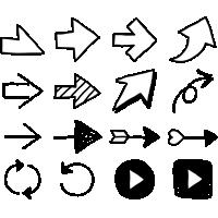 矢印イラスト(手書き)