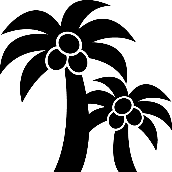 ヤシの木のシルエットイラスト