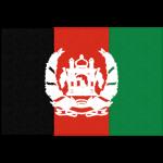 アフガニスタンの国旗イラストフリー素材