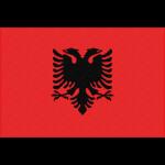アルバニアの国旗イラストフリー素材