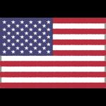 アメリカの国旗(星条旗)イラストフリー素材