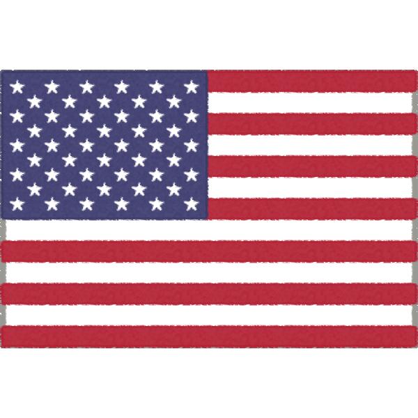 アメリカの国旗(星条旗)のフリーイラスト素材