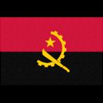 アンゴラの国旗イラストフリー素材