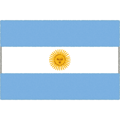 アルゼンチンの国旗イラストフリー素材
