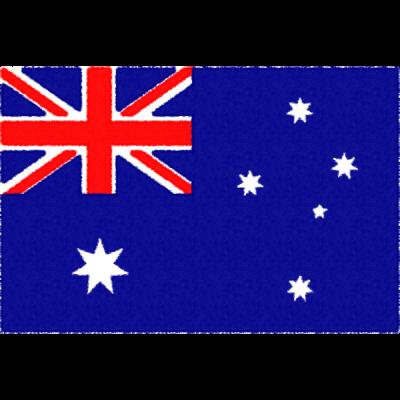 オーストラリアの国旗イラストフリー素材