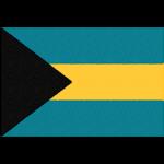 バハマの国旗イラストフリー素材