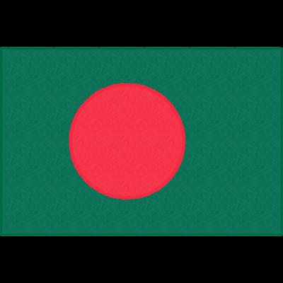 バングラデシュの国旗イラストフリー素材