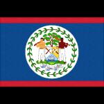 ベリーズの国旗イラストフリー素材