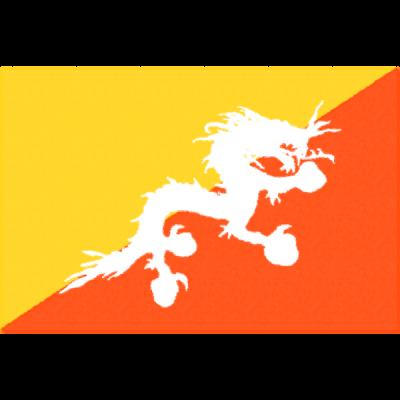 ブータンの国旗イラストフリー素材