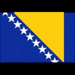 ボスニア・ヘルツェゴビナの国旗イラストフリー素材