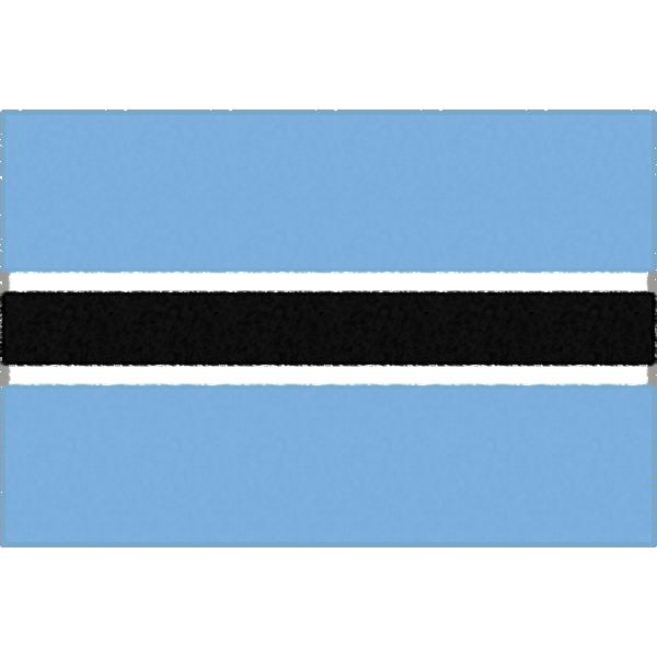 ボツワナの国旗イラストフリー素材