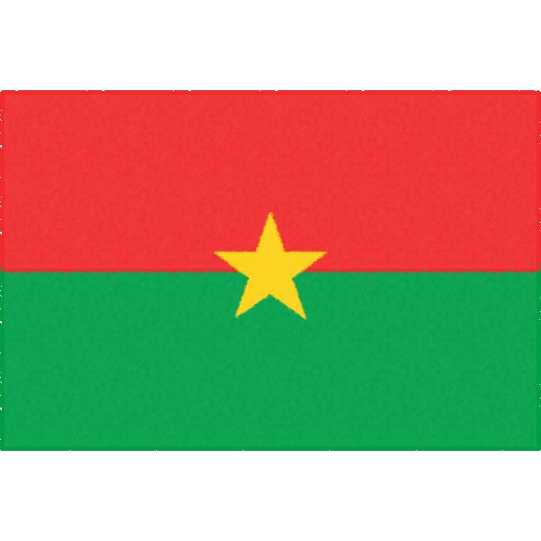 ブルキナファソの国旗イラストフリー素材