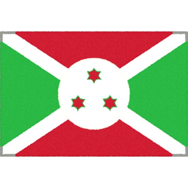 ブルンジの国旗イラストフリー素材