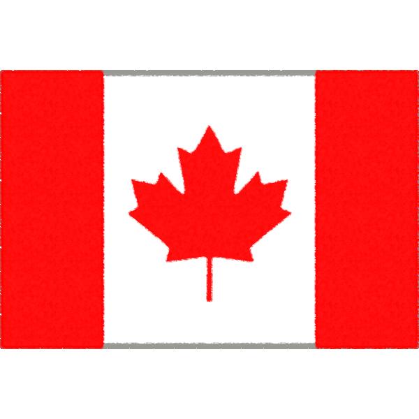 カナダの国旗イラストフリー素材