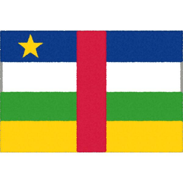 中央アフリカ共和国の国旗イラストフリー素材
