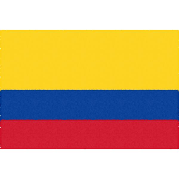 コロンビアの国旗イラストフリー素材