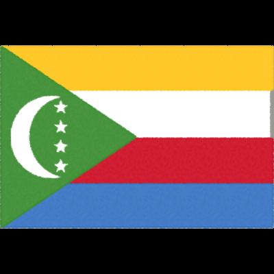 コモロの国旗イラストフリー素材