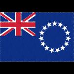 クック諸島の国旗イラストフリー素材