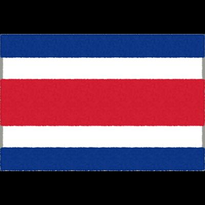 コスタリカの国旗イラストフリー素材