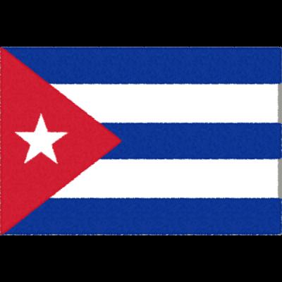 キューバの国旗イラストフリー素材