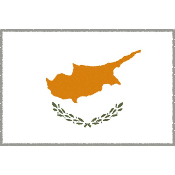 キプロスの国旗イラストフリー素材