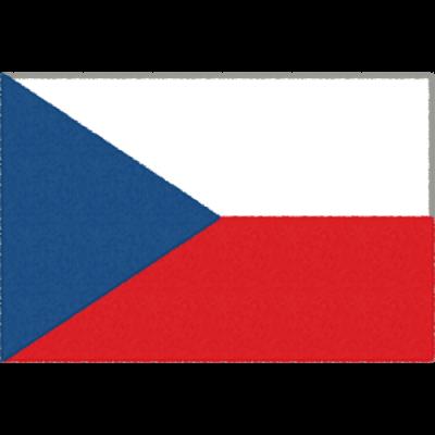 チェコの国旗イラストフリー素材