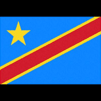 コンゴ民主共和国の国旗イラストフリー素材
