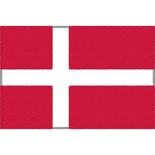 デンマークの国旗イラストフリー素材