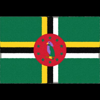 ドミニカ国の国旗イラストフリー素材