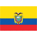 エクアドルの国旗イラストフリー素材