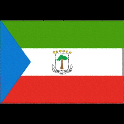 赤道ギニアの国旗イラストフリー素材