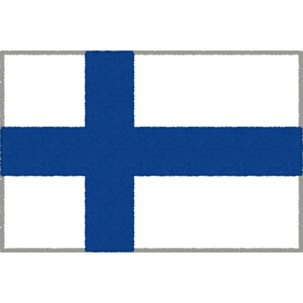フィンランドの国旗イラストフリー素材