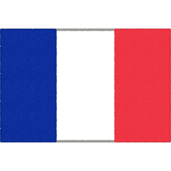 フランスの国旗イラストフリー素材