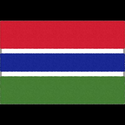 ガンビアの国旗イラストフリー素材