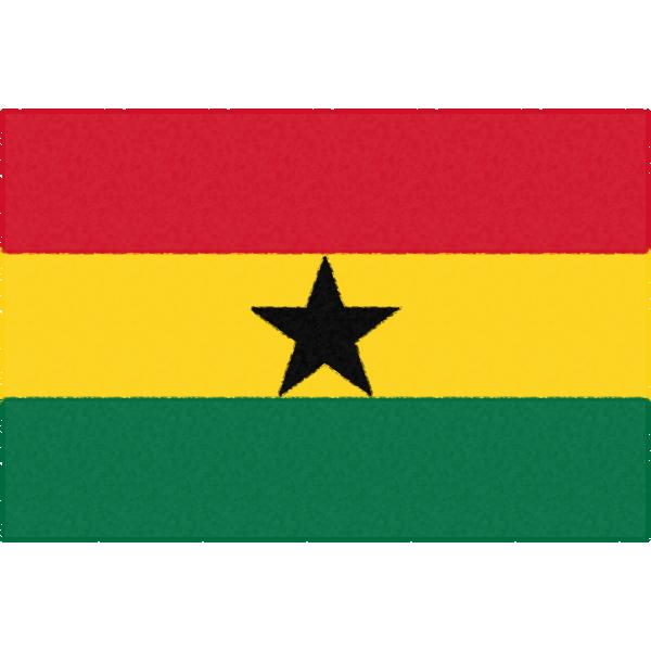ガーナの国旗イラストフリー素材