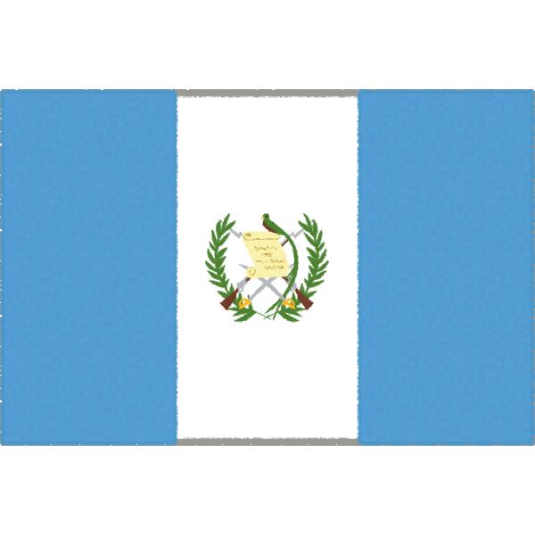 グアテマラの国旗イラストフリー素材