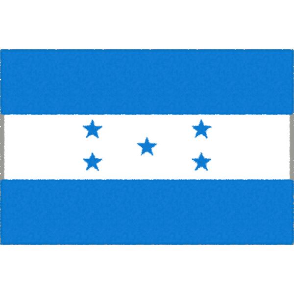 ホンジュラスの国旗イラストフリー素材