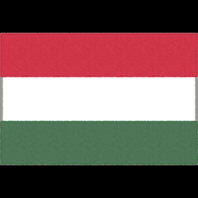 ハンガリーの国旗イラストフリー素材