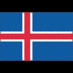 アイスランドの国旗イラストフリー素材