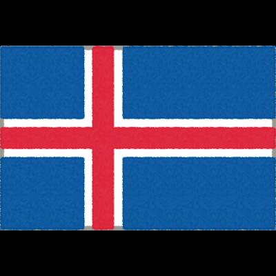 アイスランドの国旗のフリーイラスト素材