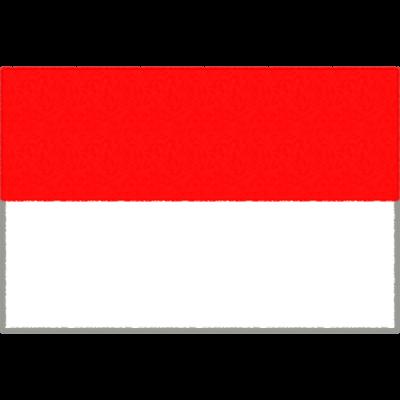 インドネシアの国旗イラストフリー素材