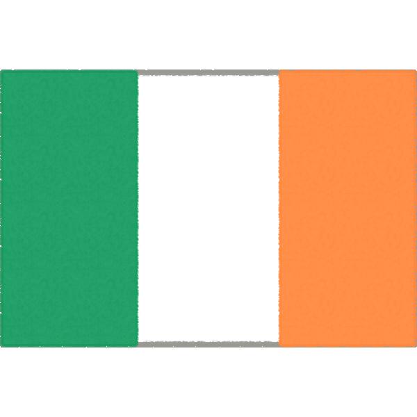 アイルランドの国旗のフリーイラスト素材