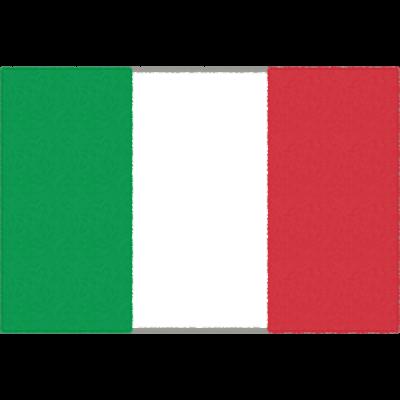 イタリアの国旗イラストフリー素材