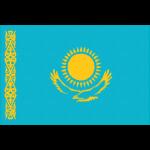 カザフスタンの国旗イラストフリー素材