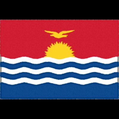 キリバスの国旗イラストフリー素材