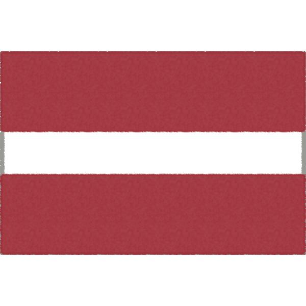 ラトビアの国旗イラストフリー素材