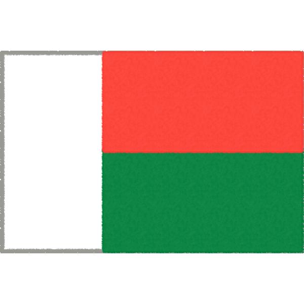 マダガスカルの国旗イラストフリー素材