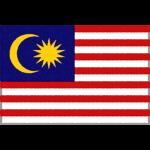 マレーシアの国旗イラストフリー素材