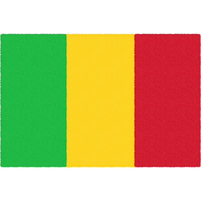 マリ共和国の国旗イラストフリー素材