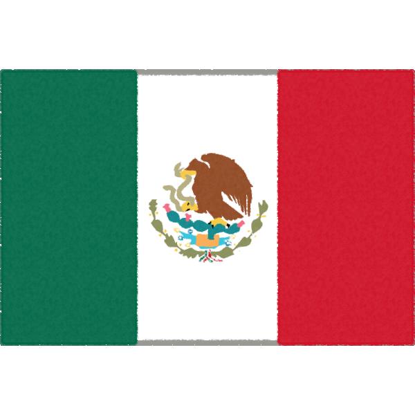 メキシコの国旗イラストフリー素材
